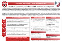Programme Sport-Études 2022-2023 au Collège Français