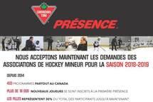 Contribuez à la croissance du hockey dans votre AHM avec La Première Présence