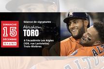 Le Québécois Abraham Toro des Astros de Houston présent à l'Académie Les Aigles