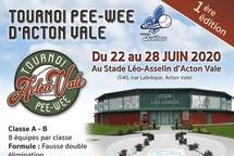 1er tournoi PeeWee d'Acton Vale