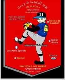 Publicite- Camp 6-12 ans Baseball
