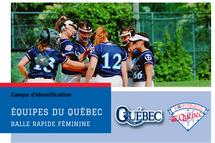 Camps d'identification - Équipes du Québec 2022 de balle rapide féminine