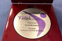 Baseball Québec et 3 athlètes finalistes au gala Sports Québec