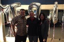Philippe Jalbert (Vice-Président de l'ASCO), Philippe Bernard (Nouveau Bâtisseur) et Jessica Perry (Présidente de l'ASCO)