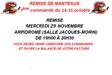 REMISE MANTEAUX COMMANDE OCTOBRE