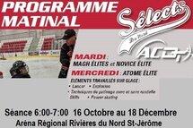 Programme Atome Élites et Novice Élites - Sélects du Nord  AC Sports-Élites/Darv Training