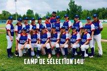 Joueuses invitées au camp de sélection pour l'équipe du Québec 14U