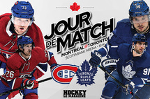 Jour de match | Le Canadien entame sa saison 2021 avec un duel classique à Toronto