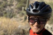 Professional road cyclist, Lex Albrecht trains in the Arizona Desert