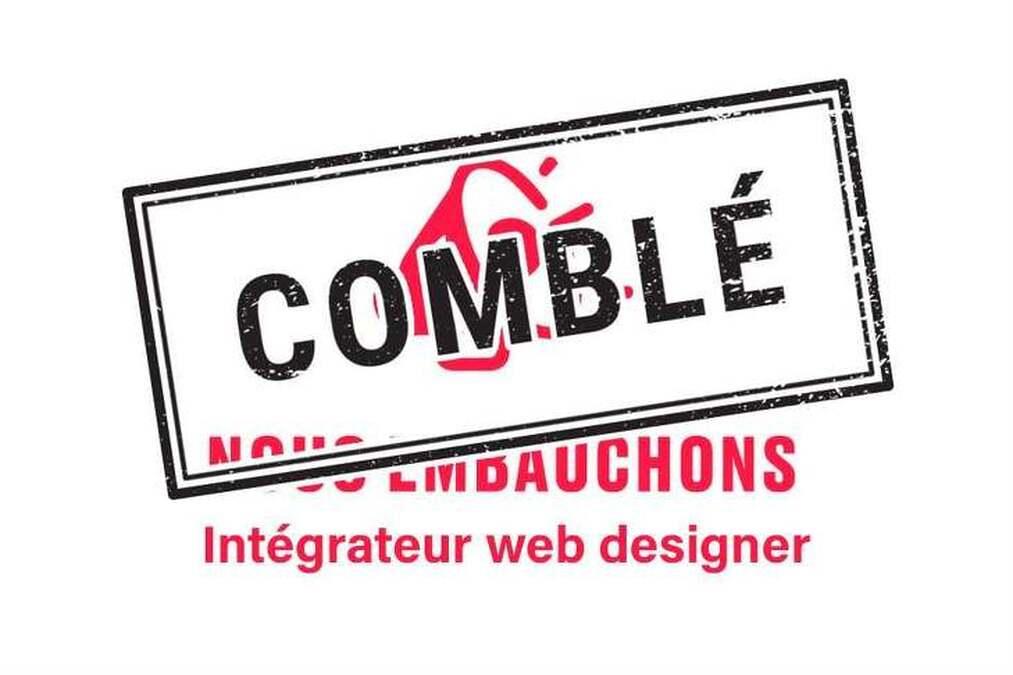 Nous embauchons un(e) intégrateur (trice)/designer web junior