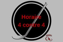 Horaire 4 contre 4