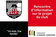 Rencontre d'information sur le projet du club