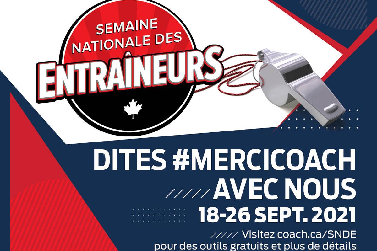 Dites «merci coach» lors de la Semaine nationale des entraîneurs!
