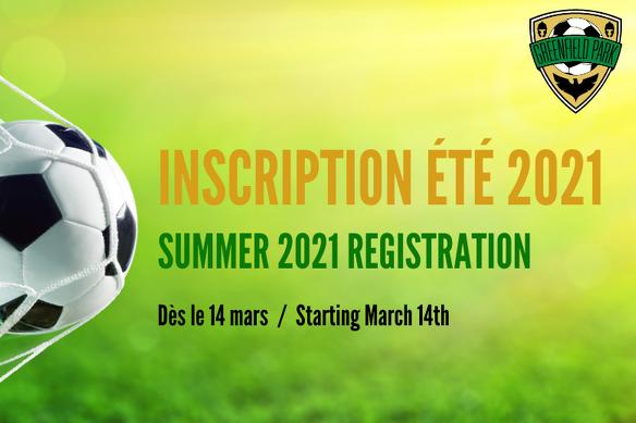 Summer 2021 REGISTRATION