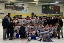 Bantam AA National Est - Champions au tournoi CLL!