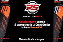PublicationSports offrira 12 bâtons Easton V9E aux participants de La Coupe Grenier