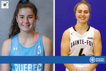 Anaïs Levasseur and Léa-Sophie Verret receive a scholarship from the 2020-2021 Nordiques Foundation