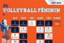 Calendriers volleyball féminin et cheerleading saison 2017-2018