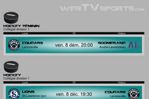 Suivez le hockey Collégial sur WebTVsports.com