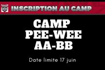 Détails camp PEE-WEE