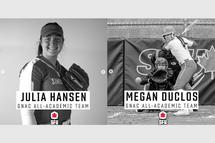 Julia Hansen et Megan Duclos excellent dans la NCAA !
