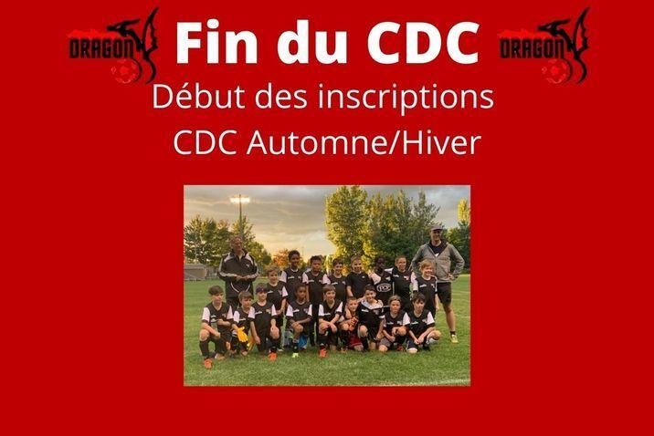 Fin du CDC et début des inscriptions CDC Automne/Hiver