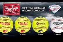 Rawlings® nommé la balle officielle de Softball Québec et de tous ses championnats provinciaux