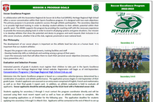 Heritage Soccer Excellence Program