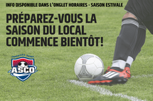 Début de la saison local - Informations disponibles