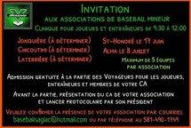 Invitation aux associations de baseball mineur