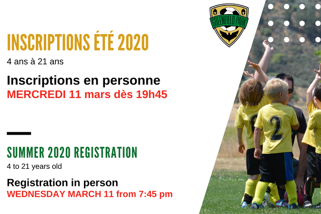 LAST CHANCE In-person Rgisttration for Summer 2020