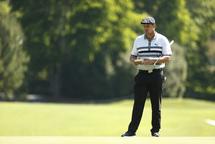 Bryson DeChambeau, un joueur qui a l'habitude d'être lent sur le parcours de golf. (Getty)