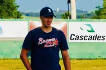 Photo: Dany Jobin Légende: Samuel Pearson s'est révélé comme un des meilleurs joueurs des Braves Batitech du Témiscouata cette saison.