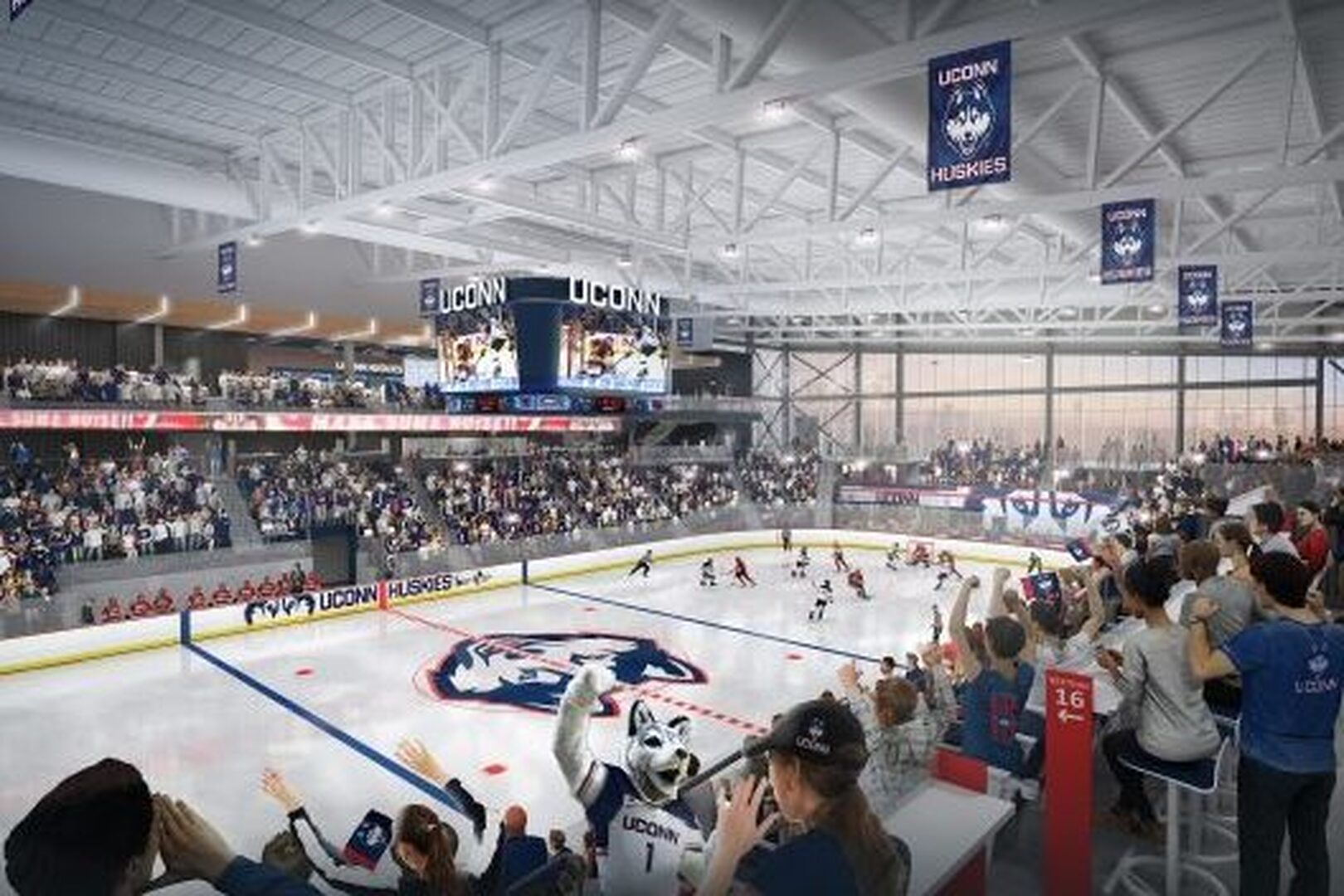 UConn to start construction on new $70 million arena for men's, women's college hockey teams, set to open fall of 2022