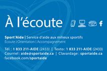 Sport'Aide lance son service d'écoute pour les athlètes Québécois