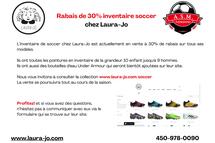 Nouvelles de Chaussures Laura-jo - INVENTAIRE SOCCER 30% rabais