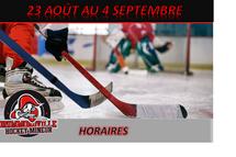 Horaire 23 août au 4 septembre disponible