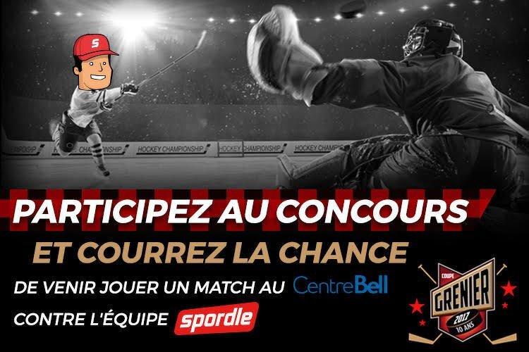 Gagnez un match au Centre Bell contre l'équipe Spordle!