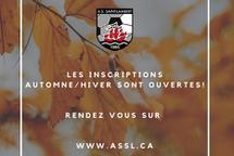 Les inscriptions pour l'automne/hiver 2020-2021 sont ouvertes!