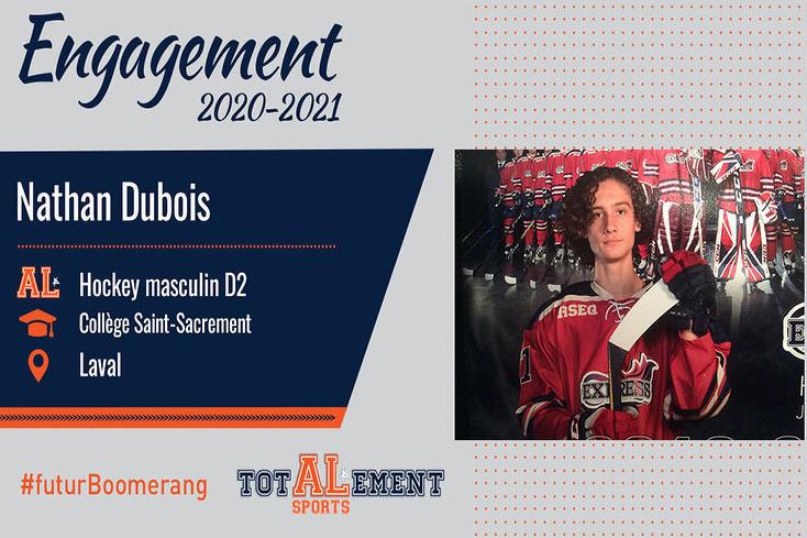 Nathan Dubois: un joueur passionné s'ajoute au AL