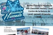 3ième Classique Hivernale 440 Chevrolet Hockey Laval Centre de la Nature de Laval, samedi 20 janvier 2018.