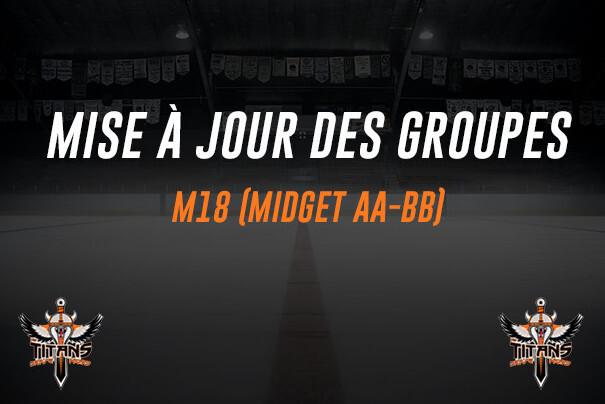 Mise à jour des groupes (M18 - AA et BB)