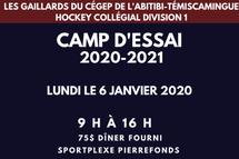 Camps d'essai des Gaillards du Cégep de l'Abitbi-Témiscamingue