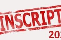 RAPPEL INSCRIPTIONS 2020-2021