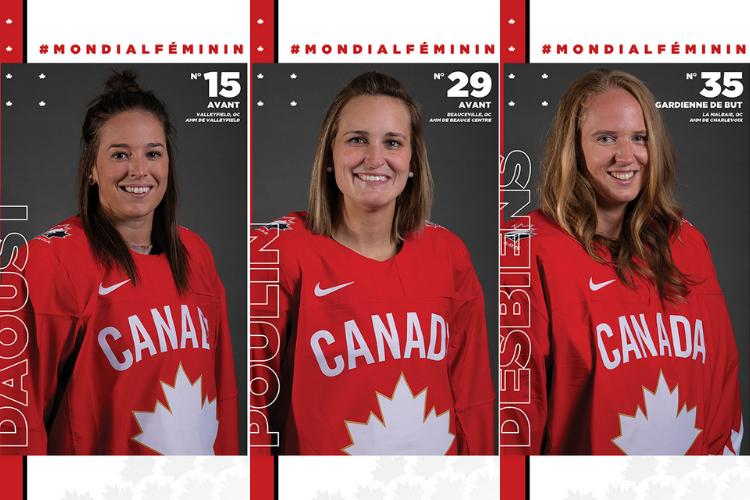 Nos Québécoises au sommet du hockey féminin