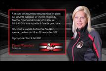 Tournoi 2020 reporté en novembre 2021