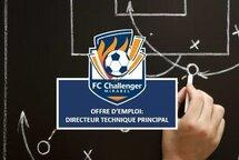 Offre d'emploi: Le FC Challenger de Mirabel est actuellement à la recherche d'un candidat pour occuper les fonctions de Directeur technique qui sera responsable du volet développement de son club de soccer. CLIQUER SUR CE LIEN POUR PLUS DE DÉTAILS OU VISITEZ NOTRE SECTION EMPLOIS