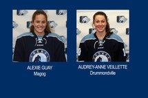 Les Québécoises Alexie Guay et Audrey-Anne Veillette au Championnat mondial féminin des M18 2018 de l'IIHF