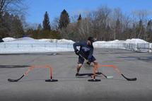 Un entraînement pour pratiquer vos croisements et votre maniement de rondelle