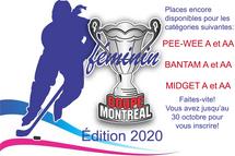 Places encore disponibles pour la Coupe Montréal 2020